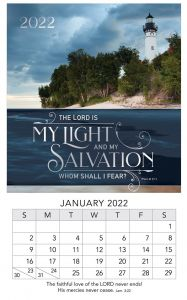 Mini Magnetic Calendar 2022-Light and Salvation, MMC320