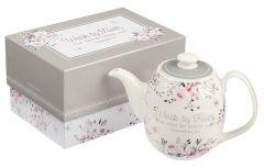 Tea Pot Ceramic: Walk By Faith, TEA008