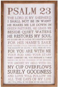 Framed Art Wood: Psalm 23, VFR0088