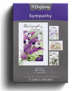Boxed Cards-Sympathy Butterflies, J3355