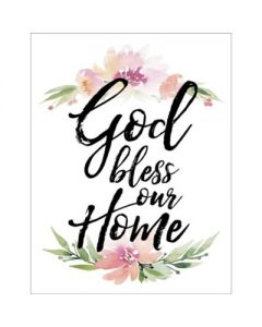 Magnet (Woodland): God Bless Our Home #6336