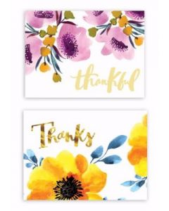 Note Cards-Thank You  12 Premium Cards  77691