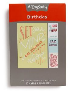 Boxed Cards-Birthday, Bible Letters 70108