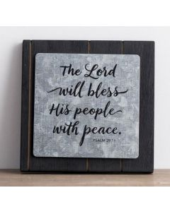Plaque Wall/Metal-The Lord Will Bless His People, 71416