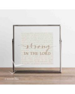 Plaque Glass/Metal-Strong in the Lord