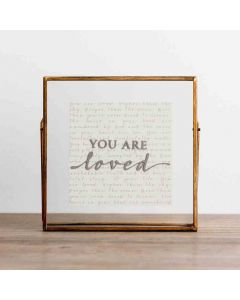 Plaque Glass/Metal-You Are Loved