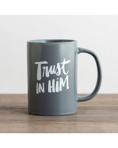 Mug (Ceramic)-Trust Him  Grey 91456