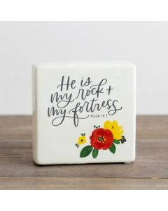 Plaque (Ceramic)-My Rock My Fortress