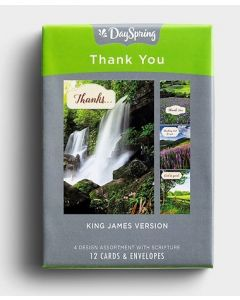 Boxed Cards-Thank You, Landscapes, J1027