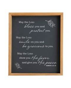 Plaque (Wood)-May the Lord Bless, Num 6:24