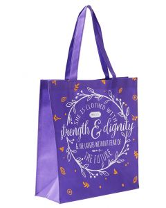 Tote Bag:Strength and Dignity, Purple TOT094