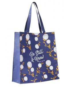 Tote Bag:Be Still And Know, Navy TOT095