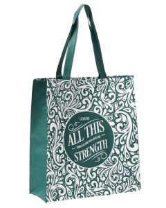Tote Bag:I Can Do All This, Green, TOT096