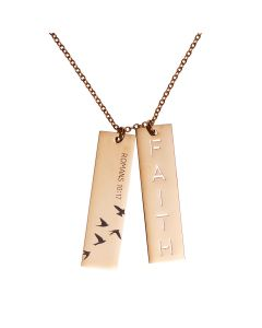 Necklace Double Bar SSteel-Faith NKL005