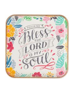 Trinket Tray/Metal-Bless The Lord