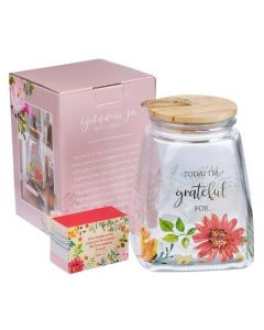 Glass Gratitude Jar with Cards: Today I'm Grateful For, JAR001