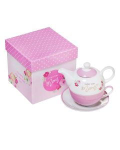 Teapot Set for One: I Love You Mom, TPS006