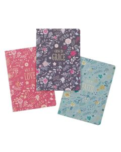 Notebook Set/3-Grace  Love  Faith  Large NBS032