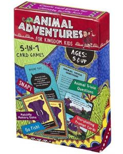 Animal Adventures for Kids 5-in-1 Card Game KDS786