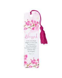 Bookmark (Tassel)-Blessed, Ps 1:1-3, TBM105