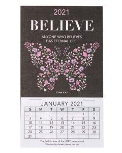 Mini Magnetic CAL 2021-Believe