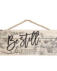 Hang Tag (Wall Decor):Be Still and Know, 95112