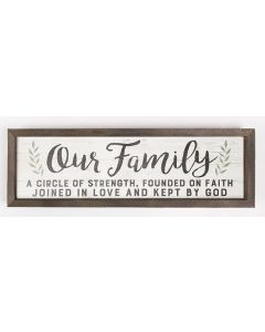 Framed Art/Wood-Our Family, A Circle Of Strength, VFR0029