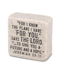 His Plans, Cast Scripture Stone, 40706