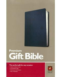 NLT Premium Gift Bible-Soft Leather-look, Blue