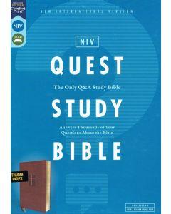 NIV Quest Study Bible LtrSoft-Brown INDEX,Cft Prt