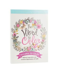 Coloring Card-Word in Color  20 pcs