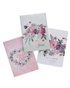 Notebook Set/3-Be Joyful in Hope, Large, NBS018
