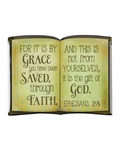 Magnet Epoxy Bible:For by Grace, Eph 2:8 MAGE-101