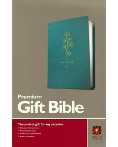 NLT Premium Gift Bible-Soft Leather-look, Teal