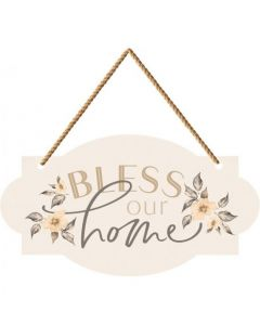 String Sign:Bless Our Home