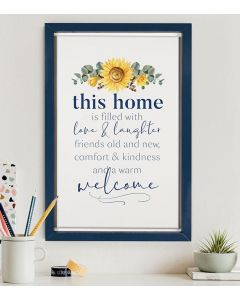 Plaque Framed-This Home Is Filled / Love, RFR0031