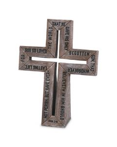 Cross-Barn Wood  John 3:16  Small