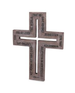 Cross-Barn Wood  John 3:16  Large