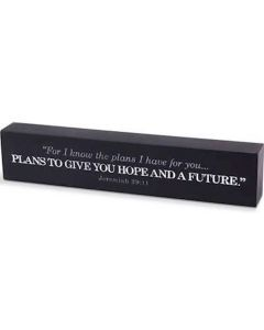 Plaque-Desktop/Scripture Bar: His Plans, Jeremiah 29:11, 11696