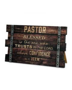 Plaque-Desktop Wood  Pastor   Jer 17:7