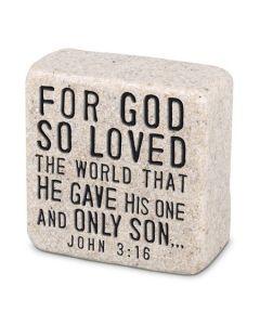 Scripture Stones Mini-For God So Loved, John 3:16, 40764