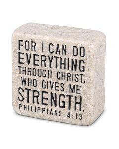 Scripture Stones Mini-Everything Through Christ,  Philippians 4:13, 40765