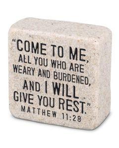 Scripture Stones Mini-Come To Me, Matthew 11:28,  40766