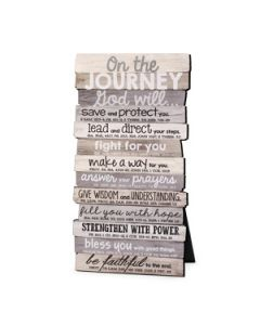 Plaque-Stacked Wood  Journey