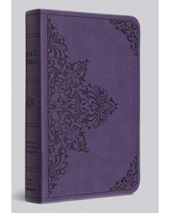 ESV Value Compact Bible - TruTone, Lavender, Filigree Design