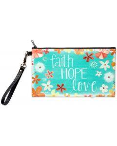 Zippered Bag: Faith Hope Love, 75727