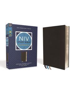 NIV Study Bible Rev Genuine Calfskin Black