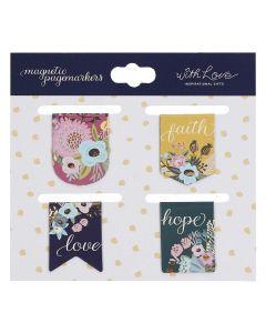 Magnetic Bookmark/4-Faith Hope Love  Die-cut