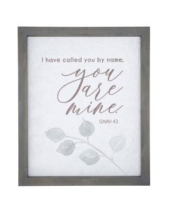 Wall Framed Wood-Called You By Name, F4638 +