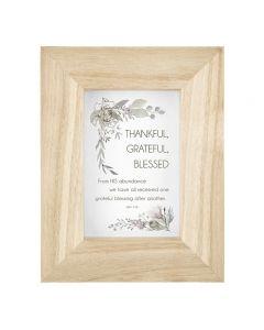 Plaque (Frame)-Thankful, Grateful, F4063 +